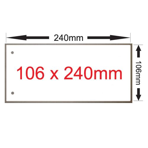 x 250 Excidion 335gsm White 240mm x 106mm 2 Hole Paper Card