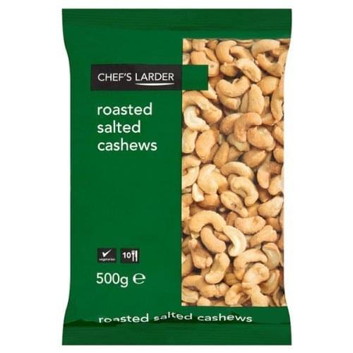 Chef's Larder Roasted Salted Cashews 500g