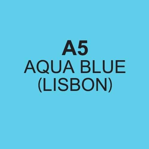 REAM A5 COLORACTION AQUA BLUE 80GSM