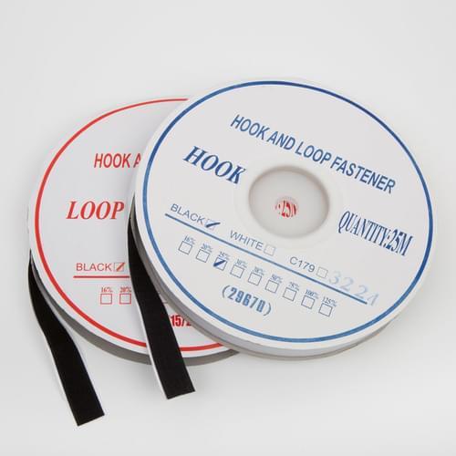Loop SelfAdhesive Black 25mm (PER METRE)