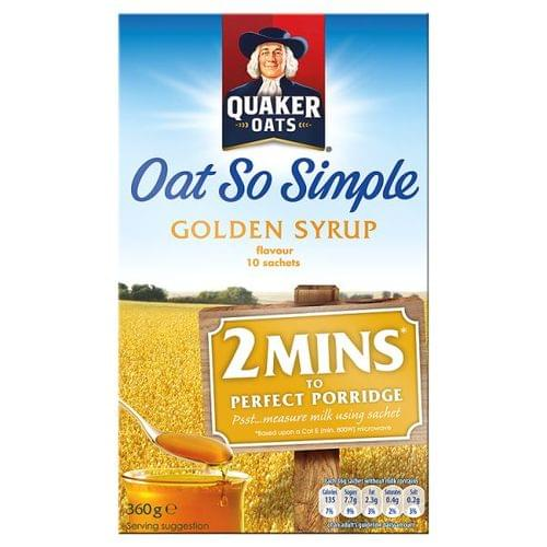 Quakers Oats So Simple Golden Syrup Sachets Pk10