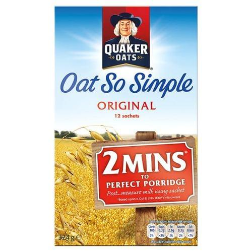 Quakers Oats So Simple Original Sachets Pk12 BOXED 5