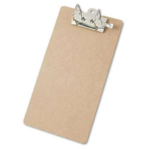 *US IMPORT* Hardboard Lever Arch Clipboard, 2-inch Capacity, Holds 8-1/2-inchw x 14-inchh, Brown