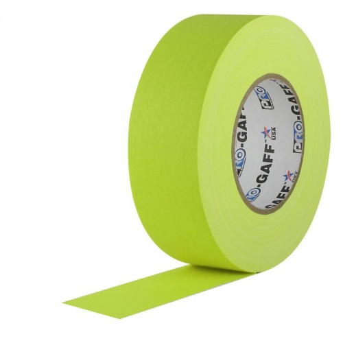 ProGaff Camera Tape 48mmx25yds (2 inch) Fluorescent Yellow