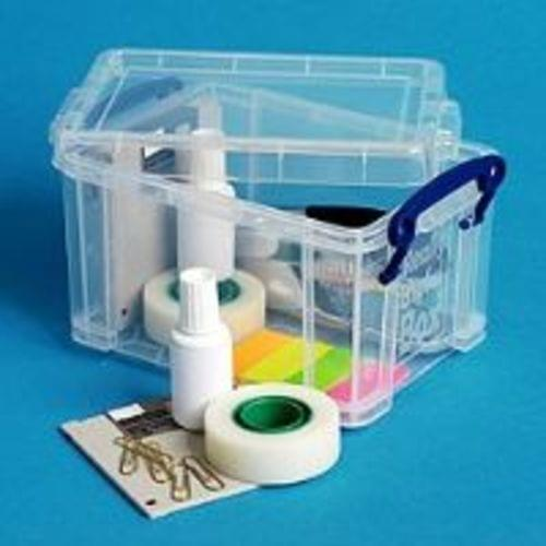Really Useful 1.6 Litre Clear Storage Box (W135 x D195 x H110 mm)