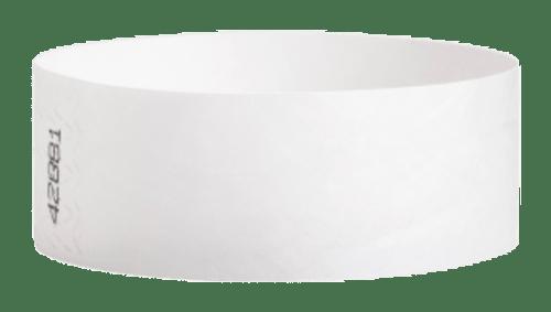 Tyvek Wrist Bands White Pk100