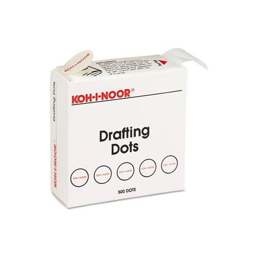 *US IMPORT * Adhesive Drafting Dots w/Dispenser, 7/8in dia, White, 500/Box, Sold as 500 Each