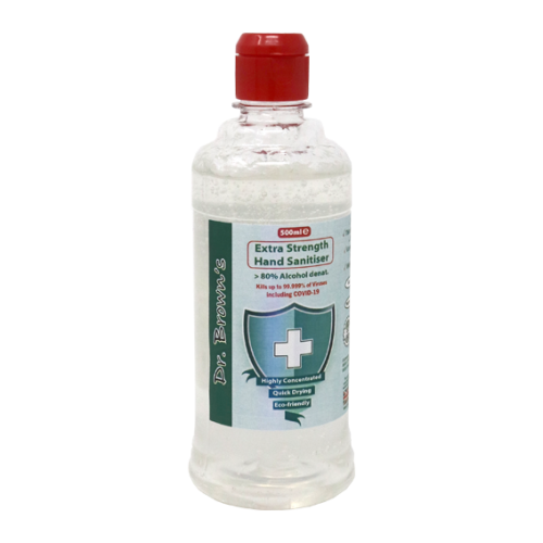 Hand Sanitiser 500ml / Flip Top / Squeeze Bottle / 80% Alcohol (Non Returnable)*