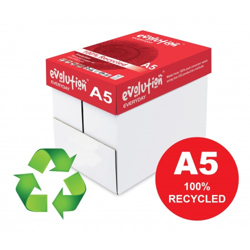 A5 Evolution 100% recycled paper 80gsm Pk10