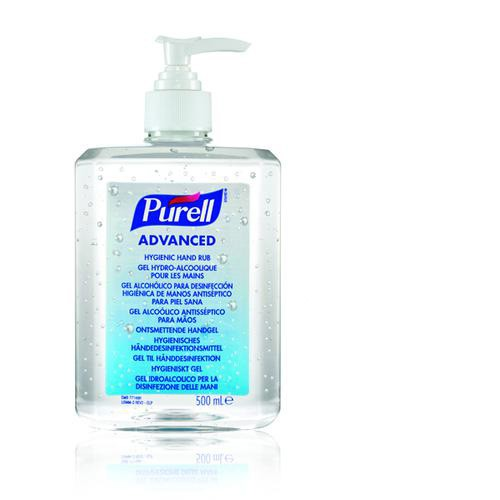*SINGLE* Purell Advanced Hygienic Hand Rub 500ml 9268-12-EEU00