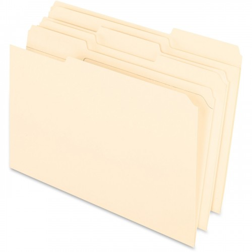 *US IMPORT* Reinforced Top 3 Tab File Folders, 11 point Kraft, 1/3 Cut, Legal, 100/Box