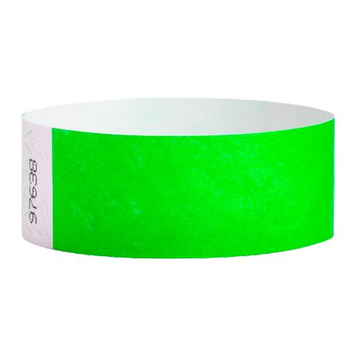 Tyvek Wrist Bands Neon Green Pk100