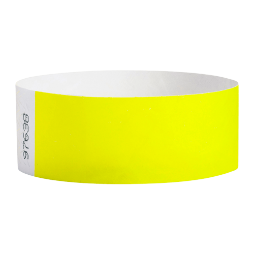 Tyvek Wristband Yellow Glow Pk100
