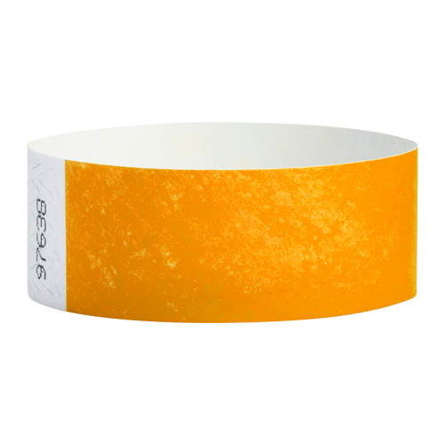 Tyvek Wrist Bands Neon Orange Pk100