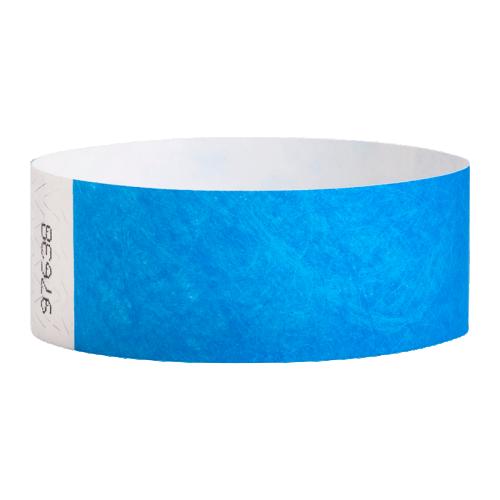 Tyvek Wrist Bands Neon Blue Pk100