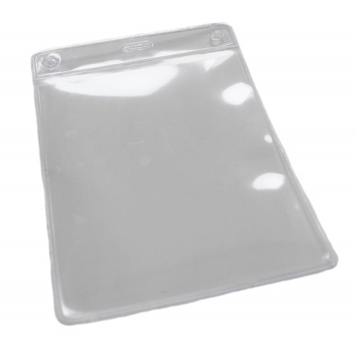 PVC ID VISITOR Portrait Card Holder 100mm x 80mm Pk25