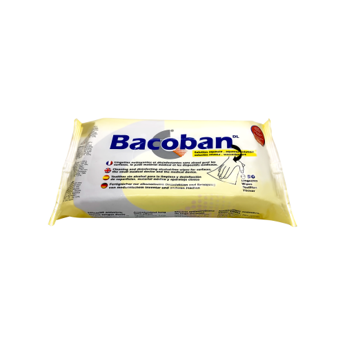 Bacoban Wipes - Flow pack of 50  180 x 200mm