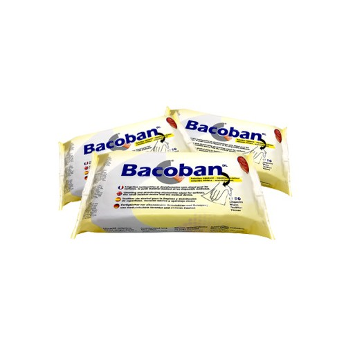 Bacoban Wipes - 3 x Flow pack of 50  180 x 200mm