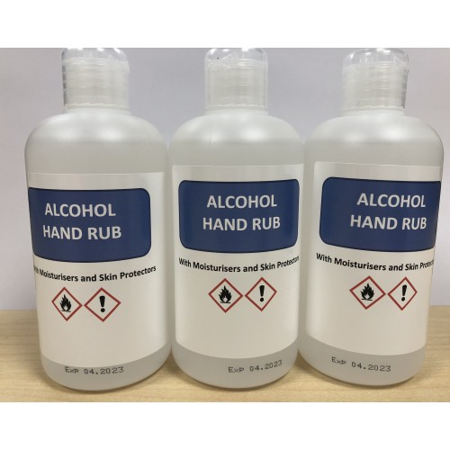 70% Alcohol Sanitiser Hand Rub 250ml Pk3