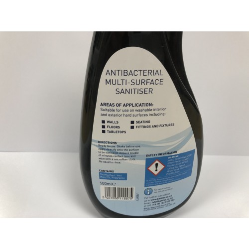Antibac Multi Surface Sanitiser Spray 500ml
