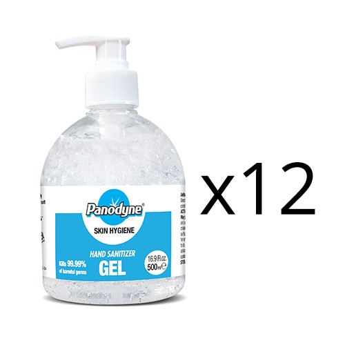 Panodyne Hand Sanitizer 500ml Pump top 70% (x12)