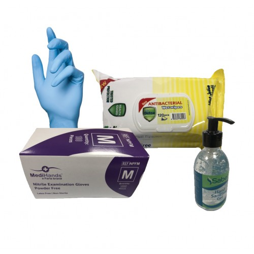Office Needs PPE Value Pack 1 - Gel, Gloves and Wipes