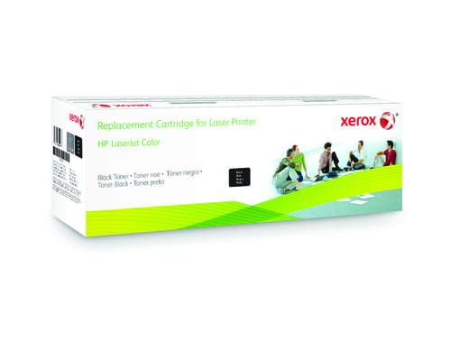 Xerox Replacement HP Black Toner Cartridge - 2500 Page Yield - Replaces Q6000A