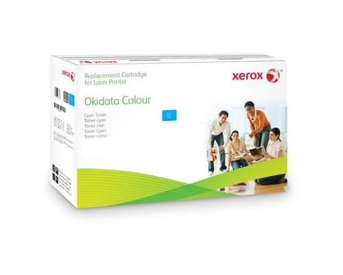 Xerox Replacement OKI Cyan Toner Cartridge - 2000 Page Yield - Replaces 43381907