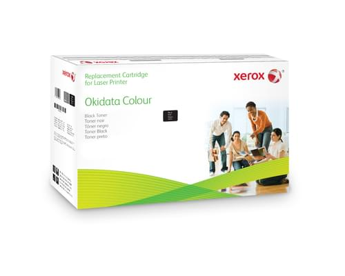 Xerox Replacement OKI Black Toner Cartridge - 2500 Page Yield - Replaces 43459324