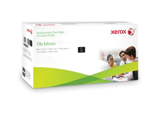 Xerox Replacement OKI Black Toner Cartridge - 12000 Page Yield - Replaces 44917602