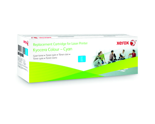 Xerox Replacement Kyocera Cyan Toner Cartridge - 5000 Page Yield - Replaces TK-590C
