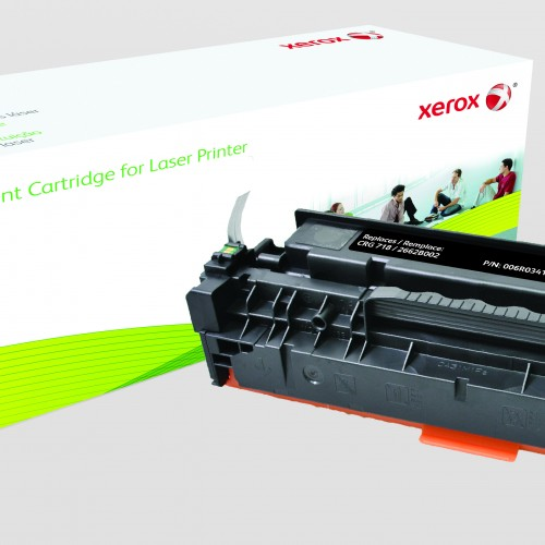 Xerox Replacement Canon Black Toner Cartridge - 3600 Page Yield - Replaces CRG-718BK (2662B002)