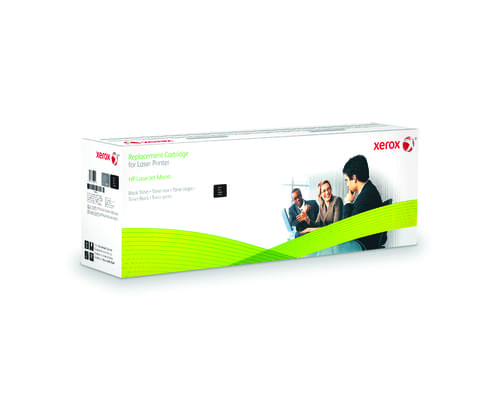 Xerox Replacement HP Black Toner Cartridge - 12500 Page Yield - Replaces CE255X