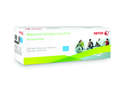 Xerox Replacement HP Cyan Toner Cartridge - 1400 Page Yield - Replaces CE321A