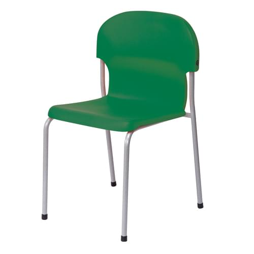 Metalliform Chair 2000 Modern Style Classroom Chair - 430mm High 11-14 Years - Green