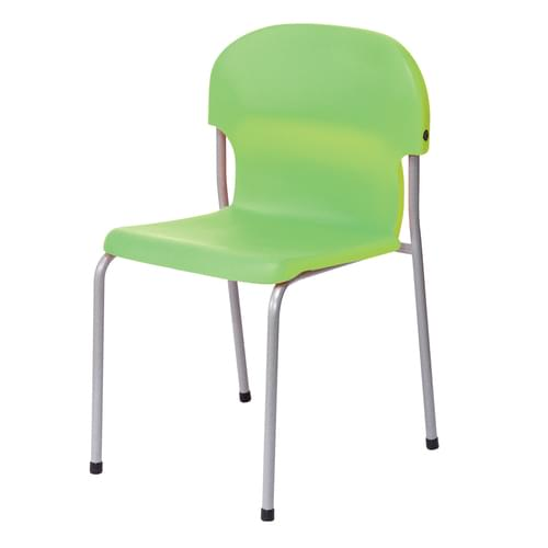 Metalliform Chair 2000 Modern Style Classroom Chair - 430mm High 11-14 Years - Tangy Green