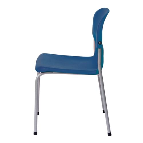 Metalliform Chair 2000 Modern Style Classroom Chair - 430mm High 11-14 Years - Blue
