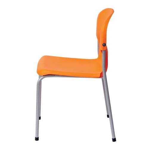Metalliform Chair 2000 Modern Style Classroom Chair - 350mm High 6-8 Years - Orange