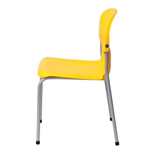 Metalliform Chair 2000 Modern Style Classroom Chair - 460mm High 14-Adult Years - Yellow