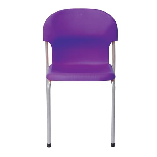 Metalliform Chair 2000 Modern Style Classroom Chair - 380mm High 8-11 Years - Purple