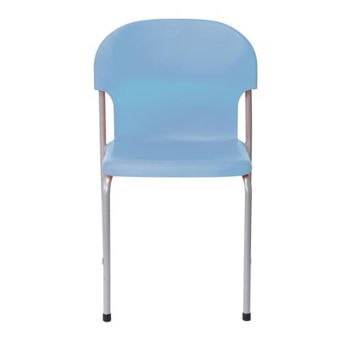 Metalliform Chair 2000 Modern Style Classroom Chair - 430mm High 11-14 Years - Soft Blue