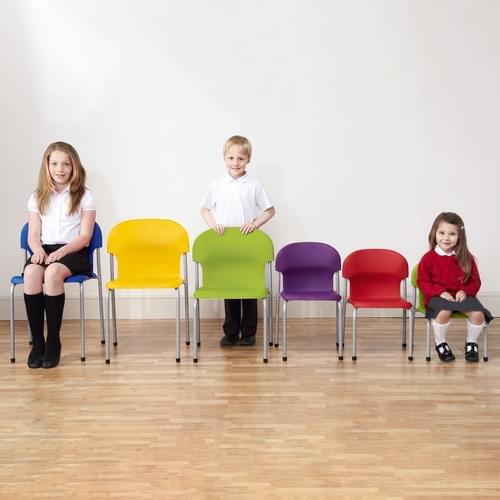 Metalliform Chair 2000 Modern Style Classroom Chair - 350mm High 6-8 Years - Green