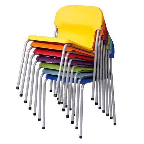 Metalliform Chair 2000 Modern Style Classroom Chair - 310mm High 4-6 Years - Purple