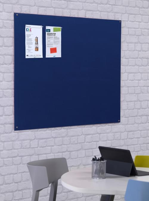 Spaceright Unframed Noticeboard - 1800 x 1200mm - Blue