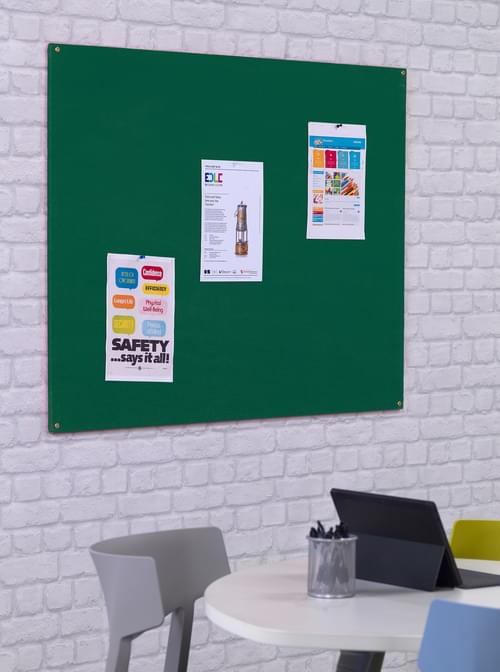 Spaceright Unframed Noticeboard - 1200 x 900mm - Green