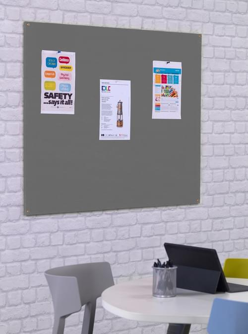 Spaceright Unframed Noticeboard - 1200 x 900mm - Grey
