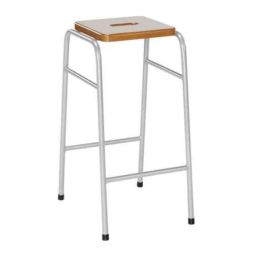 Metalliform 25 Series Traditional Classroom Stacking Stool - 520mm High - Light Grey