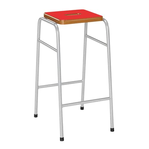 Metalliform 25 Series Traditional Classroom Stacking Stool - 570mm High - Red