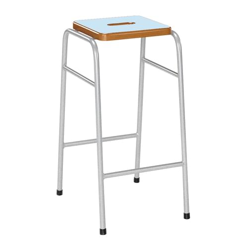 Metalliform 25 Series Traditional Classroom Stacking Stool - 470mm High - Soft Blue