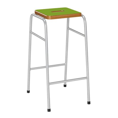 Metalliform 25 Series Traditional Classroom Stacking Stool - 670mm High - Tangy Green